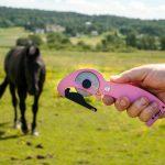 För din hästs säkerhet. Det händer att hästar fastnar och skadar sig illa.