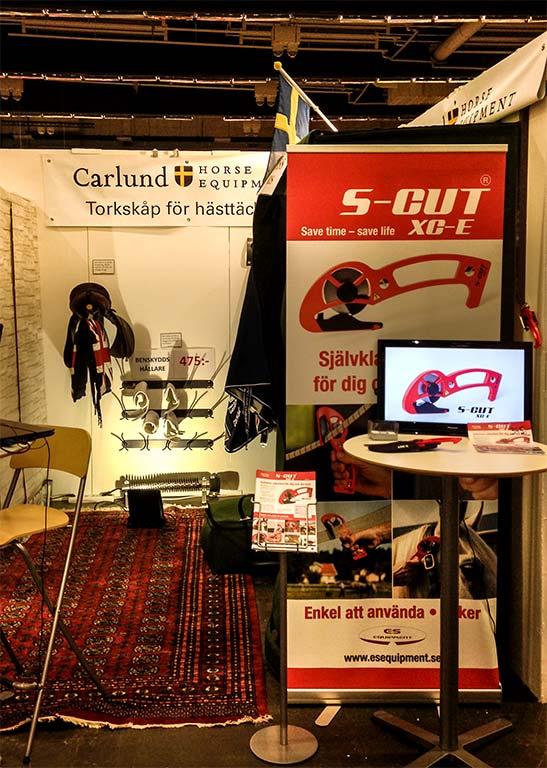 Carlund Horse Equipments monter under mässdagarna på Gothenburg Horse Show.